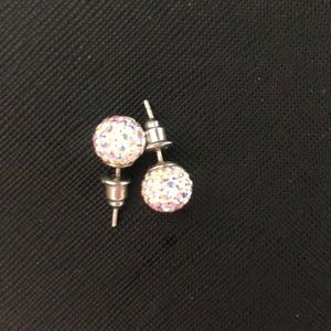 Genuine Sparkle Ball silver earrings 10mm